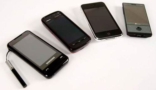 Comparatif de mobiles : Samsung i900, HTC Touch Diamond, Nokia N96, Apple iPhone 3G, etc...
