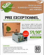 Alimentation Fortron Green PS 600 (FSP600-80GLN)