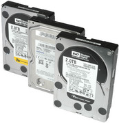 Disques durs Western Digital Caviar Black 2 To et RE4