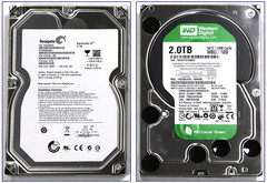 Disques durs 2To Seagate Barracuda LP et Western Caviar Green