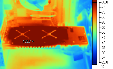 Thermographie infrarouge de la Radeon HD 4870 X2