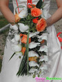 Bouquet de mari&eacute;e orange