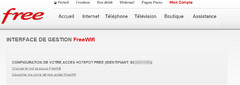 FreeWifi : interface de gestion